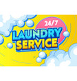 laundry service cleaning clothing textiles banner vector image vector image