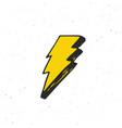 lightning vintage label hand drawn sketch grunge vector image vector image