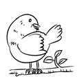 line drawing bird vector image vector image