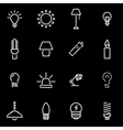 line light icon set vector image vector image