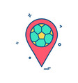 map football icon design vector image