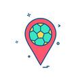 map football icon design vector image