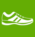men sneakers icon green vector image vector image