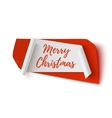 Merry Christmas red and white abstract banner vector image vector image