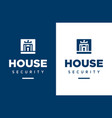 modern professional logo house security in vector image