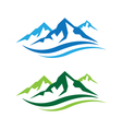 Mountains Logo vector image