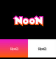noon logo abstract sign pink neon light vector image vector image