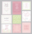 pastel invitation templates collection isolated vector image