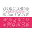 pathogen banners set outline vector image vector image