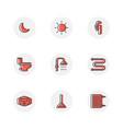 plumbing service icon set vector image vector image