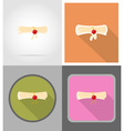 school education flat icons 10 vector image