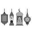 set arabic lanterns vector image