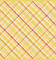 striped yellow watercolor gingham pattern plaid vector image vector image