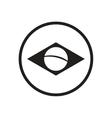 stylish black and white icon Brazil logo vector image vector image