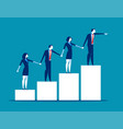 teamwork business team holding each others hands vector image vector image