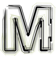 technological font LETTER M
