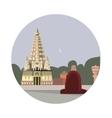 temple mahabodhi icon vector image vector image