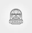 terrace cafe balcony logo line art symbol design vector image vector image