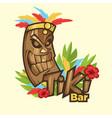 tiki tribal mask bar banner