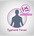typhoid fever logo icon design vector image vector image