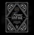 vintage frame label border western retro vector image