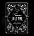 vintage frame label border western retro vector image vector image