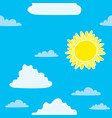 vintage seamless background with sun and clouds vector image vector image