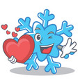 with heart snowflake character cartoon style vector image vector image