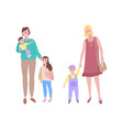 woman and child children with mothers family vector image vector image