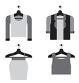 Woman Clothes On Hanger vector image
