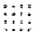 tea and coffee - flat icons vector image