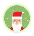 Santa Claus flat icon on green circle vector image