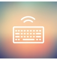Wifi button in keyboard thin line icon vector image