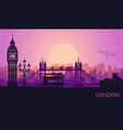 abstract cityscape of london with the sights vector image vector image