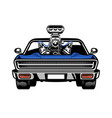american muscle car with big engine on hood vector image