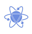 atom with orbiting electron vector image vector image