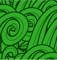 background with abstract green waves Seamless vector image vector image