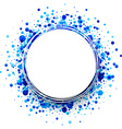 Background with blue drops vector image vector image