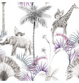 beautiful african safari animal tropical vector image