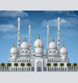 beautiful white mosque vector image