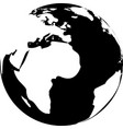 black and white globe vector image vector image