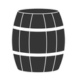 black barrel and white stripes graphic vector image vector image
