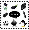 Black color vector image vector image