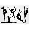 black silhouettes a ballerina vector image