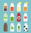bottle icon set collection vector image vector image