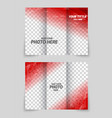 Brochure red template vector image vector image
