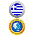 button as a symbol of Greece vector image vector image