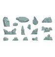 cartoon stones cartoon pile rocks gravel vector image