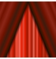 Cinema Closed Red Curtain vector image vector image