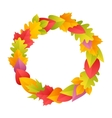 Colorful Autumn Wreath vector image